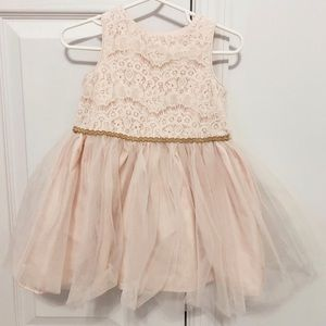 Other - Toddler Girl Blush Pink Lace Tulle Dress